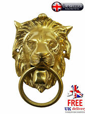 CHRISTMAS XMAS GIFT SOLID BRASS DECOR DECORATIVE WALL HANGING LION SCULPTURE