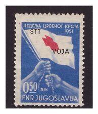 TRIESTE B - 1951   CROCE ROSSA   SOPR. SPOSTATA  NUOVO *
