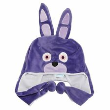 Five Nights at Freddy's Bonnie Purple Rabbit Plush Laplander Beanie Hat-New!