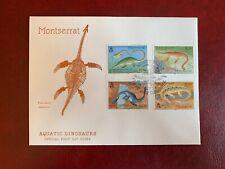 MONTSERRAT 1994 FDC AQUATIC DINOSAURS