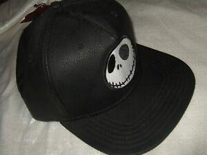 Adult The Nightmare Before Christmas Jack Skellington Skull Snapback Hat Cap NEW