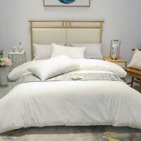 Luxury Brushed Cotton Duvet Cover Sheet Set  4Pcs Bedding Set with Zipper