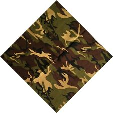Camouflage Cotton Scarf bandana Scarves Head Hip Hop Headband Turban Headwrap