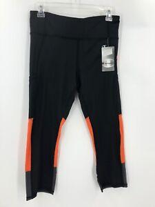 Champion Clemson Tigers Black Leggings Sz M Crop Capri Pockets Football NWT $50