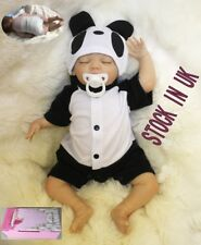"20"" Reborn Baby Dolls Soft Vinyl Silicone Realistic Newborn Sleep Baby Boy Toys"