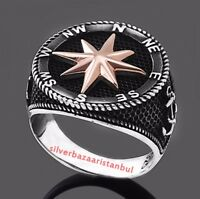 Turkish jewelry 925 Sterling Silver no stone EAGLE Mens Ring ALL SİZE us 011