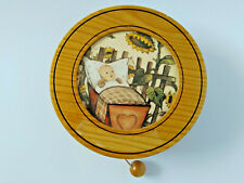 Vintage Wooden Music Box Reuge Wall Hangning Brahms Lullaby Working W-Germany