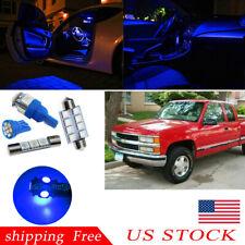 Map Dome Blue Car LED Interior lights For 1988-98 Chevy Silverado/GMC Sierra US
