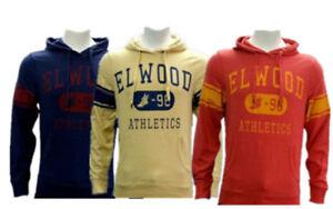 Elwood Mens State League Hoodie Fleece Pullover Sweatshirt Casual Jumnper S-XL