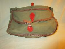 Vintage Fishing Tackle Creel - canvas and leather