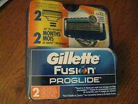 Gillette Fusion ProGlide Razor Blade Refill Cartridges, 2 count NEW