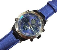 Orologio Polso YK B202 Uomo Analogico Digitale Cronografo Data Sveglia Blu lac