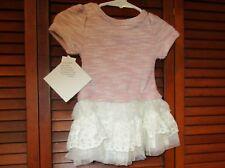 Blueberi Boulevard S/S Pink Sweater Dress Laced Skirt + Leggings Size 12 Mos NWT