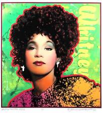 Whitney Houston Poster Beautiful New Portrait Edition Hand-Signed by David Byrd