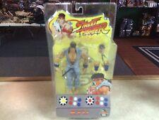 2004 SOTA Toys Capcom Street Fighter Figure MOC - RYU GREY/BLUE