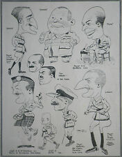 Military Red Tabs Sir Cecil Pereira 1921 Fred May Print Caricatures Article 8493