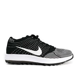 Nike Flyknit Racer G Oreo Black Golf Shoes 909756-001 Men's Size 8 New