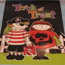"Large Garden Flag ""Trick or Treat"" Kids Dressed as Pirates- New - 28"" x 40"""