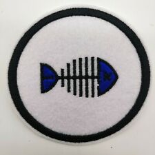 """FISHBONE - Embroidered Iron On Patch 3 """" - FISHING"""