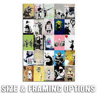 BANKSY COLLECTION ON MODERN URBAN GRAFFITI STREET ART HIGH QUALITY CANVAS PRINT
