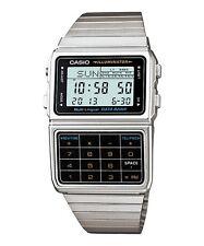 Casio DBC611-1 Men's Vintage Metal Band 25 Memory Data Bank Calculator Watch