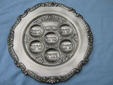 Passover Pessach Sedder Plate Silver Plated NEW Seder
