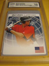 ALBERT ALOMORA CUBS 2012 LEAF RIZE WORLD CLASS ROOKIE RC # WC1 GRADED 10