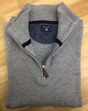 Gant Jumper XL Extra Large Light Grey Sweater Top Pure Cotton Mens Winter Autumn