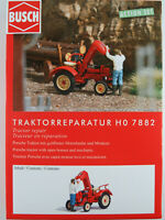 """Busch H0 7882 ACTION SET """"Traktorreparatur"""" mit Porsche Traktor 1:87/H0 NEU/OVP"""
