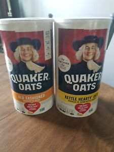 Quaker Oats Old Fashioned Oatmeal 42 Oz Canister. Lot of 2. Free shipping!!