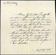 PROUST COMTESSE GREFFUHLE 1925 MUSIQUE LOUIS MASSON LETTRE MANUSCRITE MODE