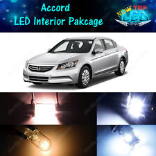 10x White LED Lights Interior Package Kit for 2003 - 2010 2011 2012 Honda Accord