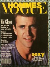 VOGUE HOMMES 131 Juil 1990 Mel Gibson Claudia Schiffer by Herb Ritts Mode