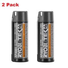 Ryobi 4 Volt Lithium-Ion Compact Battery TEK4, 2 Pack AP4001 2000 Recharge Cycle