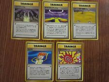 5 JAPANESE POKEMON CARD LOT NON HOLO ALL GYM TRAINER MISTY RARE TICKLING NM NP