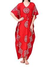 Women's Cotton Kaftan Nighty Orange Free Size Free Shipping
