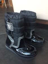 In Extenso Winter Snow Black Boots Size 2 Youth 33 EU Waterproof Insulated