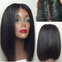 5X4.5 Silk Top Full Lace Wigs Short Bob Wig Lace Front Human Hair Wigs Brazilian
