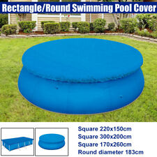 Rectangle/Round Swimming Pool Cover for Outdoor Garden Paddling Family Pools
