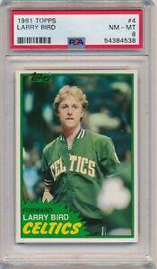 1981 Topps Larry Bird #4 First solo card PSA 8 NM-MT HOFer Boston Celtics