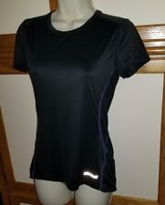 MARMOT Women's Outlook  Black Purple Yoga Athletic  Short Sleeve Top Shirt Small