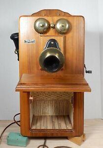 Vintage Shannon Moore OOAK  Antique Telephone Room Box Dollhouse Miniature 1:12