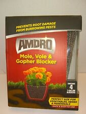 Amdro Mole,Vole and Gopher Blockers.3boxes Contains 4-- 1 Gallon Blockers each