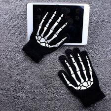 Herren Damen Warm Handschuhe Touchscreen Skelett für Smartphone
