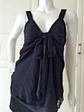 Gorgeous Evening Strappy Top, Blouse, Silk like fabric, Stunning, Size 10 UK
