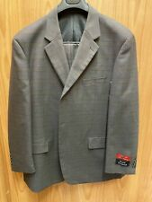 Royal Diamond Brown Checkered 2-Piece 100% Wool Suit