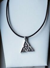 Leather Tibetan Silver Handcrafted Necklaces & Pendants