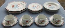 20 Pcs Set for Four Fitz and Floyd Jardin de Chine Dinnerware