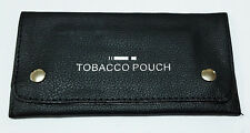 Tobacco Pouch Rizla Slot Black Soft PU Leather Fully Lined Tobacco Purse Wallet