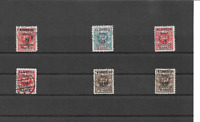 Memel, Litauen 1923, Einzelmarken aus MiNrn: 124 - 150 o, geprüft Huylmans BPP